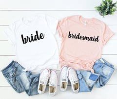 made of honor shirt - bridal party shirts -  bride shirt - bridal shirts - bridesmaid shirts - bridal party gift - bachelorette party shirts