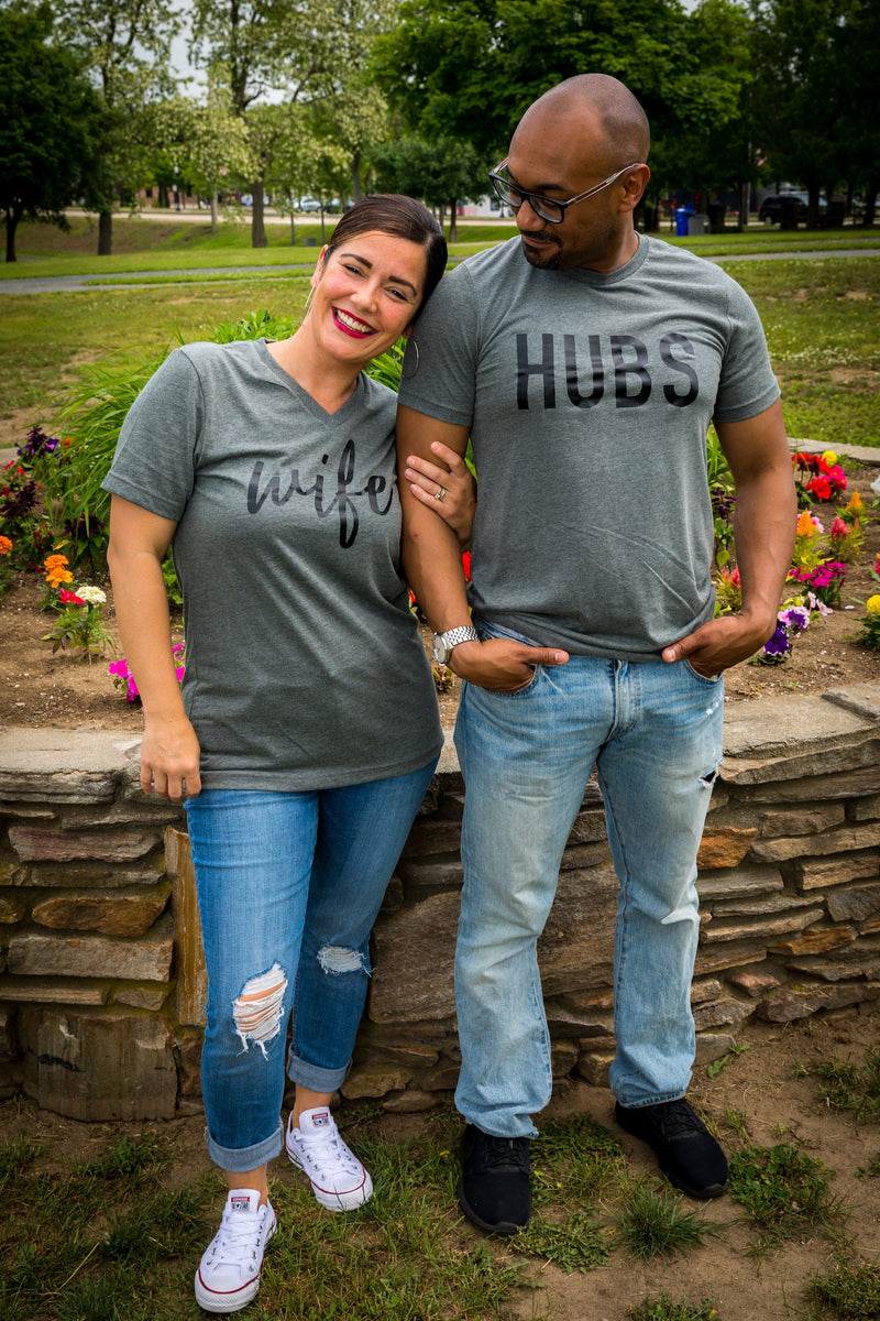 hubby wifey shirts, wifey hubby shirts, honeymoon shirts, wifey t-shirt set, couples shirt, bride shirts, groom shirts free shipping