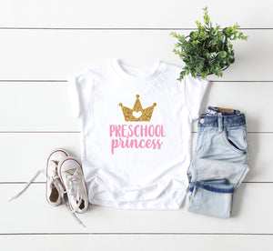 preschool shirt, preschool princess shirt, hello preschool shirt, first day of school shirt, preschool tee, announcement preschool tee