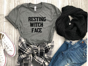 Resting witch face shirt- funny halloween shirt- Women's Halloween Shirt - bad witch shirt  - Women's Halloween costume - Funny fall tee
