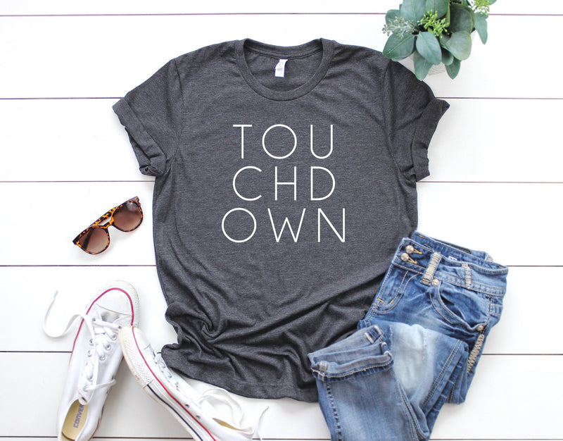 Touchdown shirt, womens football shirt, womens sports shirt, game day shirt, game day vibes shirt, womens touchdown shirt, football tshirt