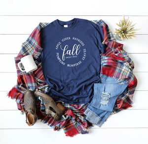 Womens Fall Tee - Womens Fall Shirt - Fall Shirt Women - cute fall shirt women - hello fall shirt - fall tshirt for women - fall shirt