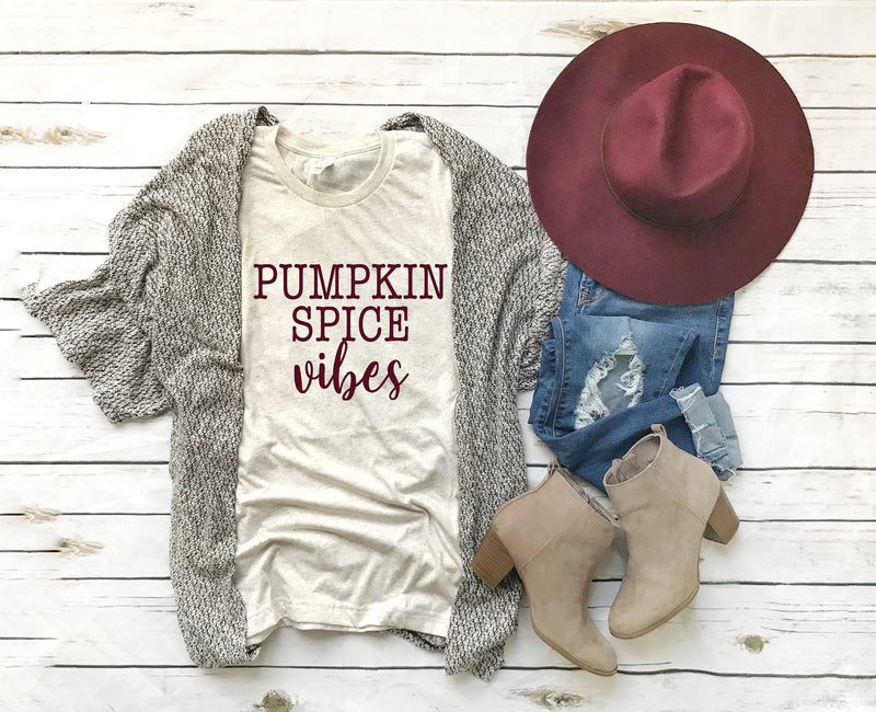 Pumpkin spice shirt, pumpkin spice vibes, pumpkin spice, Womens fall shirt, fall tshirt, fall womens tee, pumpkin womens tee, pumpkin shirt