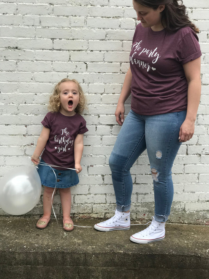 Mommy and me birthday shirts - Matching birthday shirt -mom and daughter birthday shirt - birthday shirt sets  - mommy and me shirts
