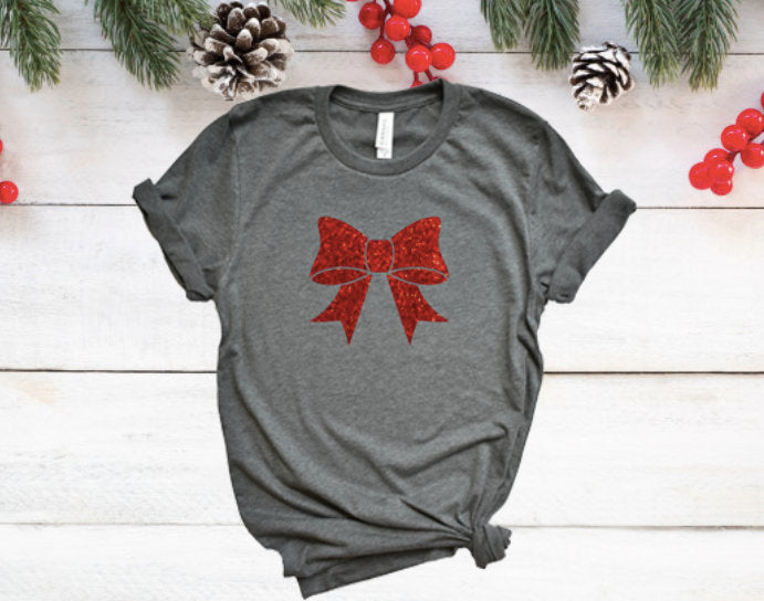 Cute womens christmas shirt, Christmas glitter shirt, holiday glitter tee, women's Christmas shirt, Glitter tee, holiday shirt, holiday tee