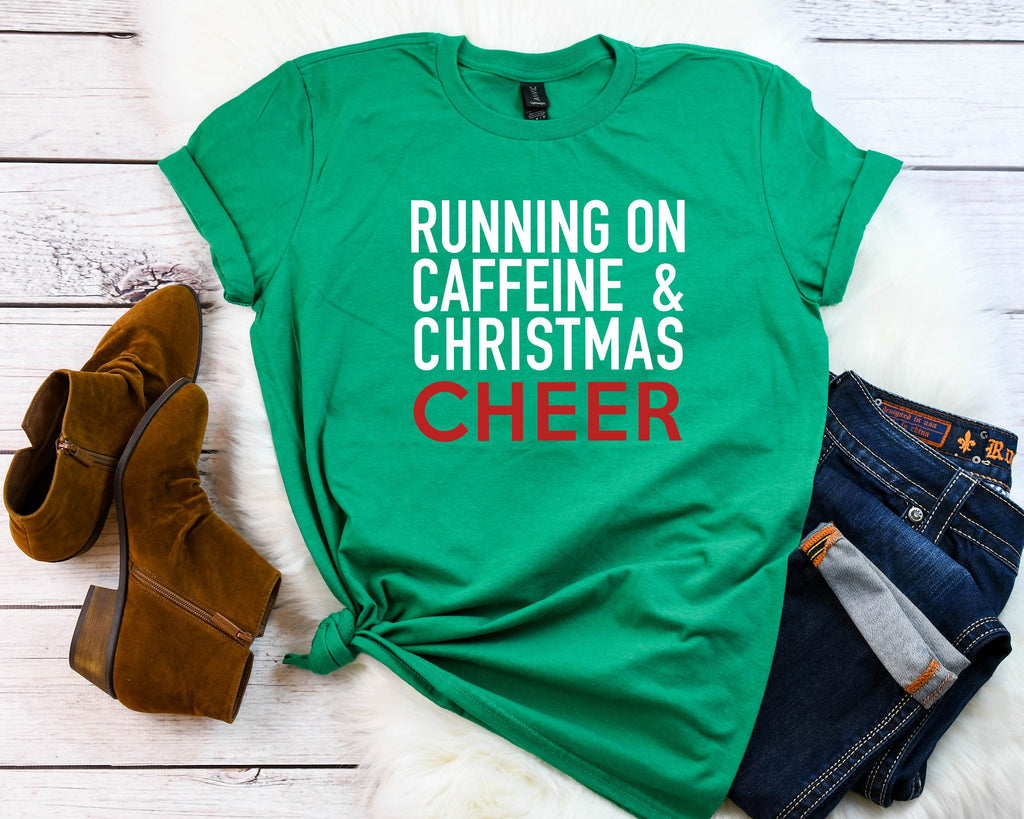 Women's Christmas cheer t-shirt, Funny Christmas t-shirt, Christmas party shirt, Cute Women's Christmas shirt, Christmas top, Holiday tee