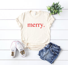 Merry t-shirt, Merry Christmas shirt,Christmas party shirt,Cute Women's Christmas shirt,Women's Christmas top,Xmas shirt,Holiday t-shirt