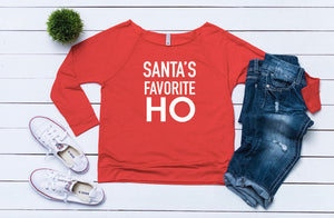 Ugly sweater, funny sweater, Santa's favorite ho, Women's Christmas outfit,Women's holiday top,Cute Christmas top, Women's xmas shirt