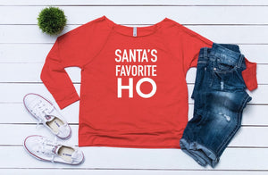 Funny Christmas sweater, Ugly sweater, Santa's favorite ho, Women's Christmas outfit, Women's holiday top, Cute Christmas top, holiday top