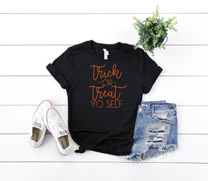 Women's funny halloween top- Halloween costume shirt -Halloween top- Women's halloween shirt- Trick or treat Shirt- Cute halloween outfit-