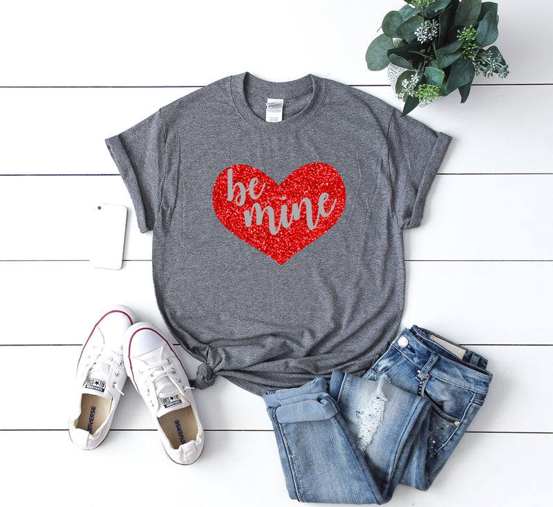 Women's valentine day tee -Cute Valentine day shirt- Be mine shirt -Valentines day gift for wife- Cute women's shirt-Valentines day shirt-
