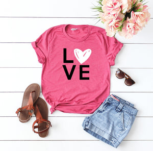 Love shirt- Shirt for valentines day- Valentines day outfit- Valentines day shirt- Cute women's Valentine top-