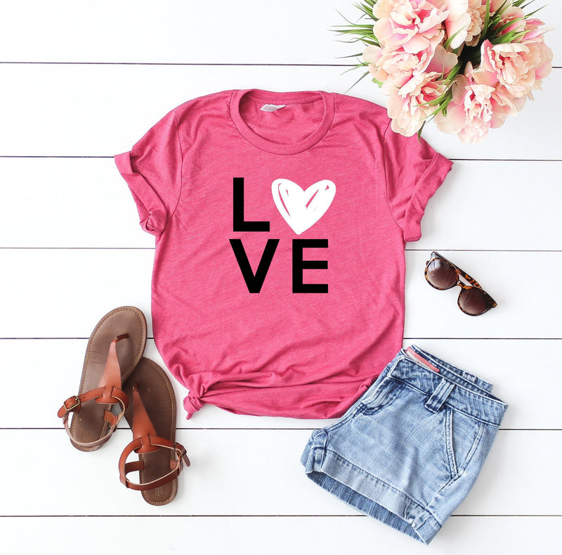 Valentines day shirt- Cute women's Valentine top-Love shirt- Shirt for valentines day- Valentines day outfit