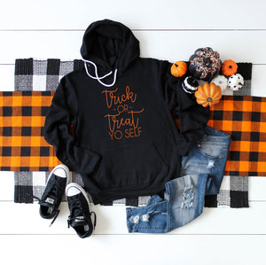 Halloween sweatshirt, Women's fall sweatshirt, trick or treat, fall sweatshirt, fall sweatshirt for woman, funny halloween sweatshirt,