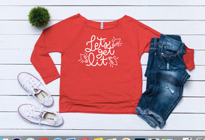 Ugly sweater,funny sweater,Lets Get Lit Christmas Top, Women's Christmas outfit, Women's holiday top,Cute Christmas top,Women's xmas sweater