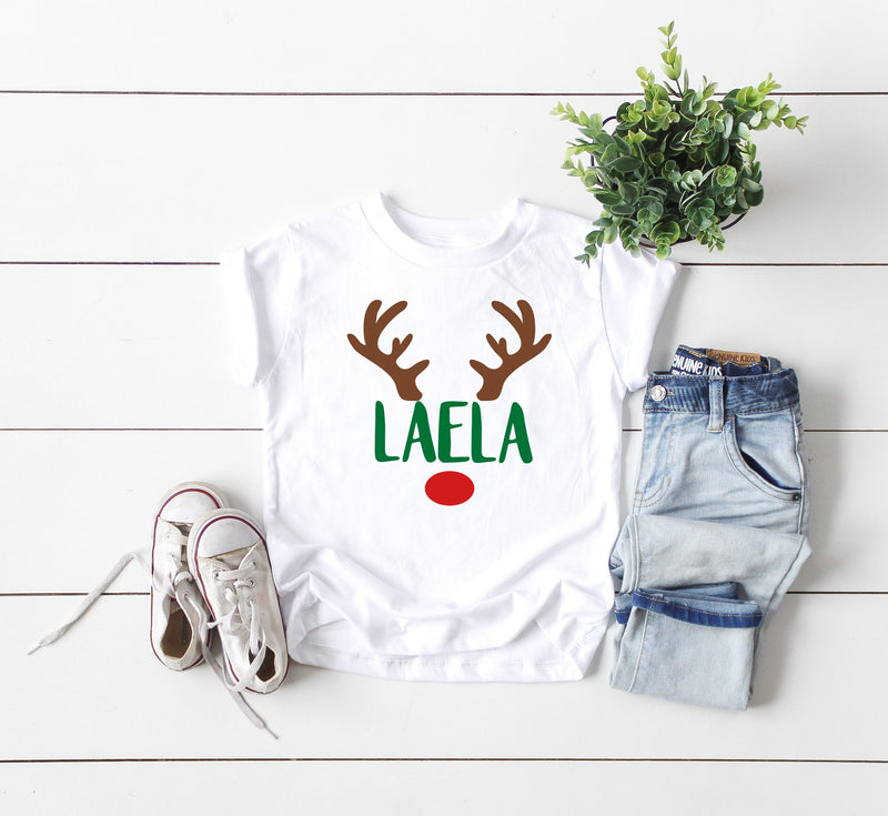 Kids Holiday Shirt, Customized Shirt, Kids Shirt, Christmas Shirt, Christmas Celebration, Reindeer Shirt, Youth Tshirt, Toddler Tshirt