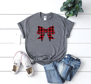 Christmas buffalo plaid t-shirt, Cute winter shirt,Women's holiday shirt,Funny Xmas tee, Xmas outfit,Christmas shirt,Cute Christmas shirt,