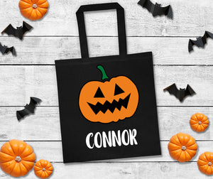 personalized trick or treat bags, halloween candy bag, custom halloween bag