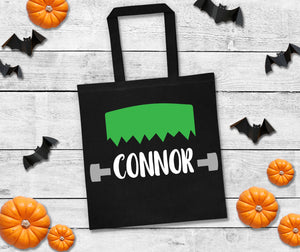 Frankenstein trick or treat bag, personalized halloween bag, trick or treat bags, custom halloween bag, personalized trick or treat bags