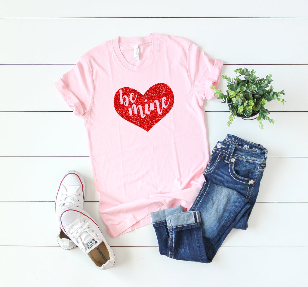 Cute Valentine day shirt- Women's valentine day tee- Be mine shirt -Valentines day gift for wife- Cute women's shirt-Valentines day shirt-