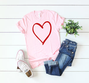 Valentine day t-shirt for women - Valentine day shirt - Holiday t-shirt - Cute women's heart shirt - Valentines day top