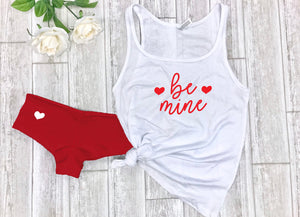 Valentines gift for boyfriend, Be mine tank,Valentines outfit, Valentines gift for husband, Be mine undies, Cute Valentines gift for wife