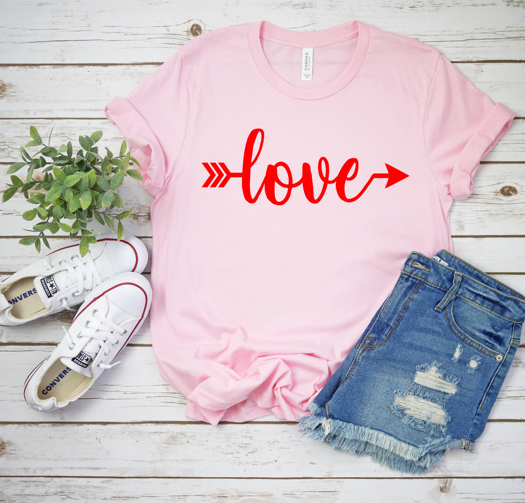 Deloach Couture Love Valentines Day Shirt Cute Womens Valentine T-Shirt Valentines Gift Love Shirt Love VDay Tee