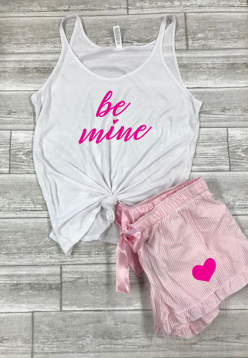 Valentines outfit for husband ,Valentines day outfit for boyfriend, Cute Valentines pajamas, Be Mine Tank, XoXo tank, Valentines day pajamas