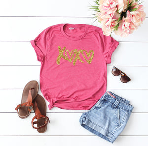 Cute Valentines day outfit- Glitter shirt- Valentines day shirt- Valentine top - Glitter Valentines day shirt- Xoxo top- love shirt -