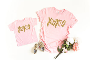 Mommy and me Valentine's shirts, Cute valentines day shirts, women's Valentines shirt, Glitter Valentines day top