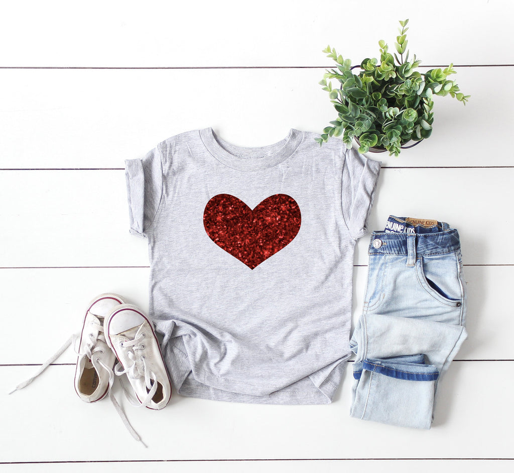 Toddler Valentine's day outfit - Cute Valentine's shirt - Toddler Valentines day top- Valentines shirt for toddler - Toddler Glitter heart