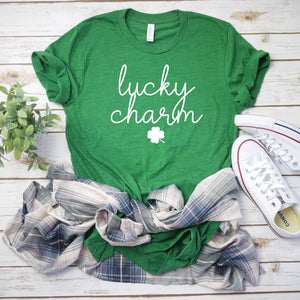 Womens st pattys day shirt - shamrock tee - lucky charm shirt - St. Patricks day shirt - womens st. patricks day shirt - irish womens shirt