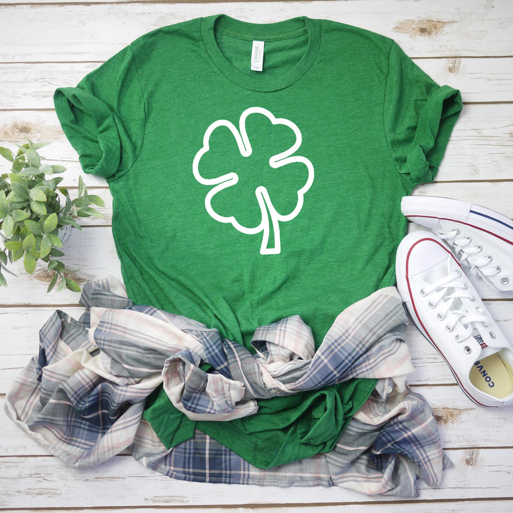 Womens st pattys day shirt - shamrock tee - St. Patricks day shirt - womens st. patricks day shirt - irish shirt - Four leaf clover shirt
