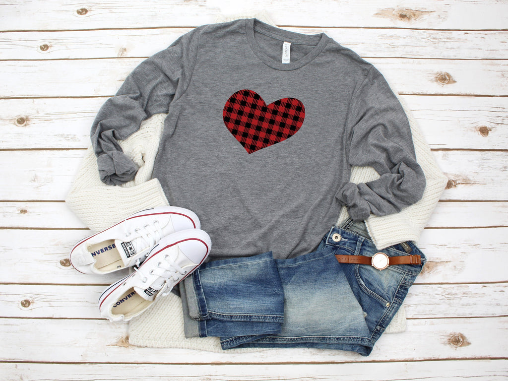 Women's Buffalo plaid shirt, Valentines day shirt, Cute Valentines day shirt, Holiday buffalo plaid, Women's Valentines shirt, Women's top