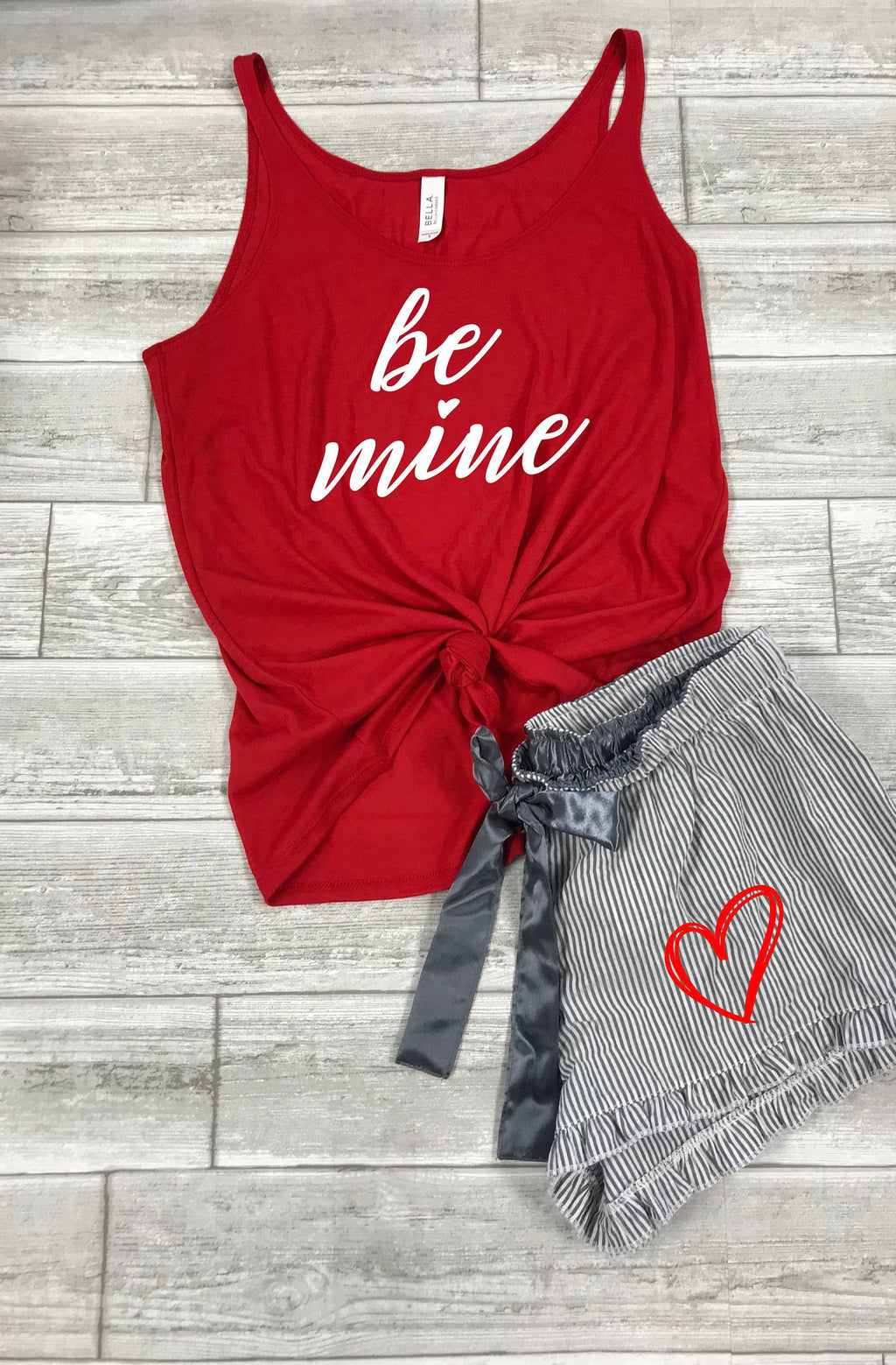Be Mine Tank, Valentines outfit for husband ,Valentines day outfit for boyfriend, Cute Valentines pajamas, Valentines day pajamas set