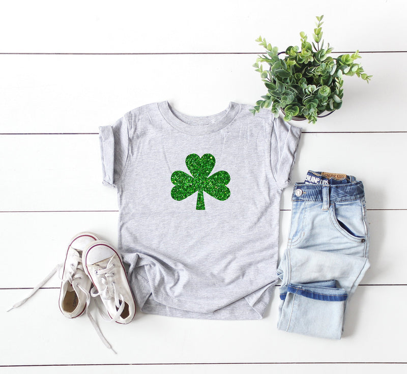Baby's first St. Patrick's day outfit, Infant St. Patrick's day shirt, Cute Baby St. Patrick's day top, Baby Glitter Shamrock shirt