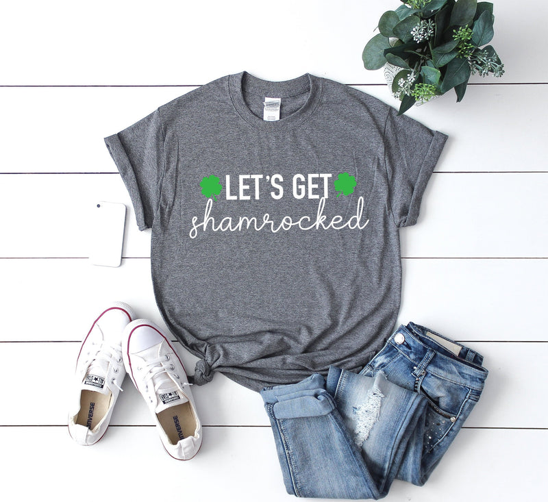 Lets get shamrocked - st pattys day shirt - St. Patricks day shirt - womens st. patricks day shirt - shamrock shirt - st pattys day tshirt