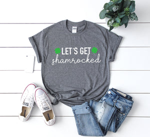 Lets get shamrocked t-shirt - funny saint Patty's day shirt - St Patty's drinking shirt-  Women's St. Patricks Day top -Men's St Patty's day