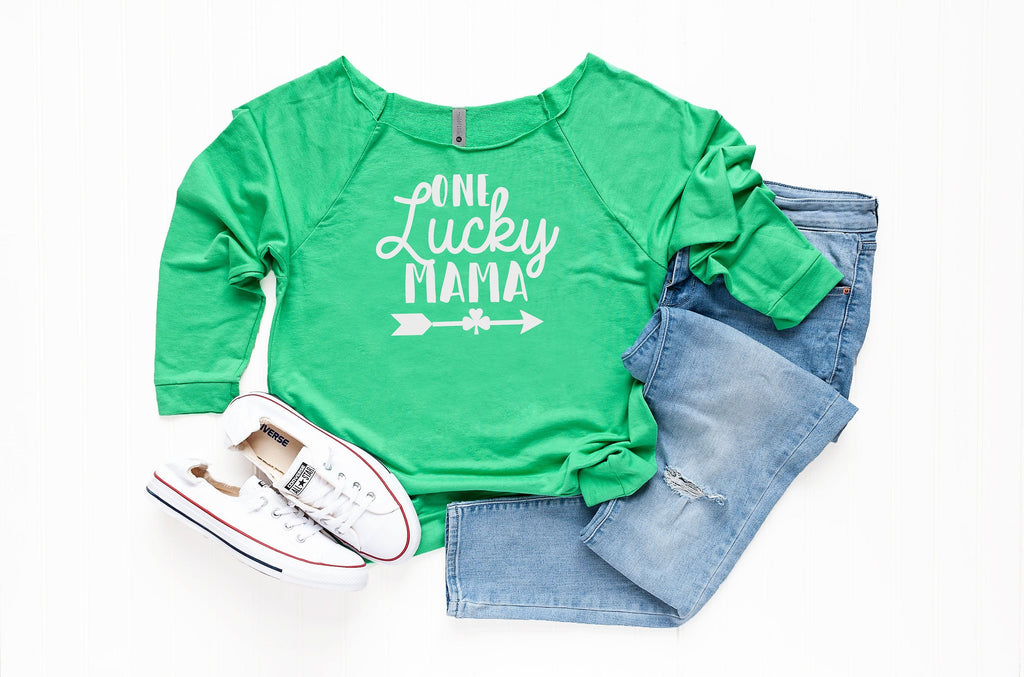 Saint Patty's Sweater, One lucky Mama, Women's Saint Patrick' s Outfit, St Patty's Gift for Mom, Cute St Patrick day wear