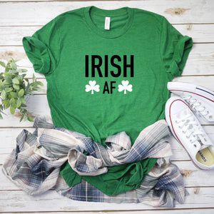 Irish af tee, st patricks day top, drinking top, shamrock top, women's st patricks day shirt