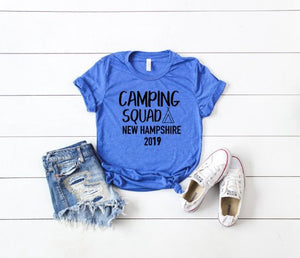 family camping shirt, family camping trip shirt, family vacation shirt, custom vacation tee, camping group shirts, custom camping shirt