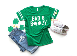 Drinking shirt, St. Patrick's day shirt , Saint Patty's day, Women's drinking shirt, Shirt for Saint Patty's day, Bad and boozy shirt