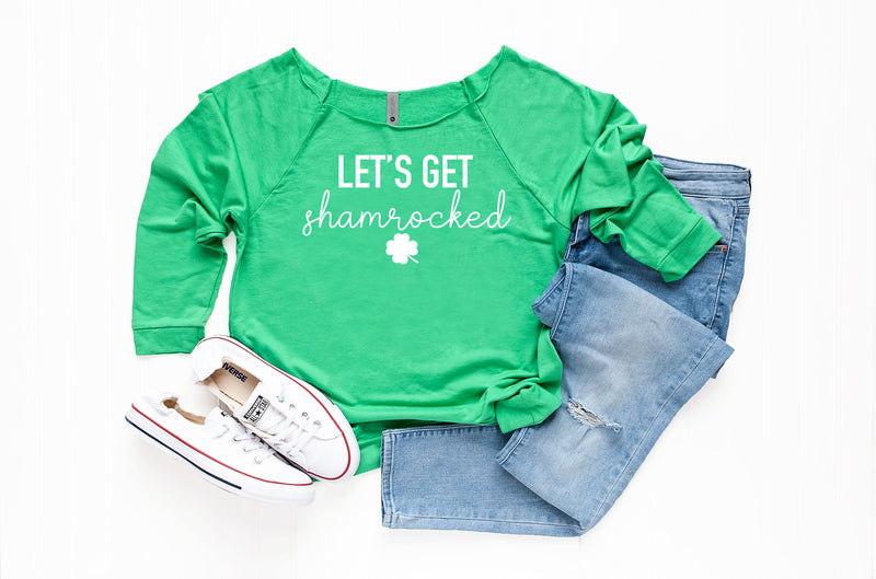 lets get shamrocked shirt, funny st pattys day shirt, womens st pattys day shirt, Women's Saint Patrick' s Outfit, st pattys day tshirt