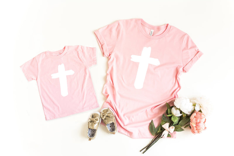 Mommy and me easter shirt - Christian Easter tee - Cross shirt - Matching easter shirt - mom and daughter easter shirt - mommy and me easter