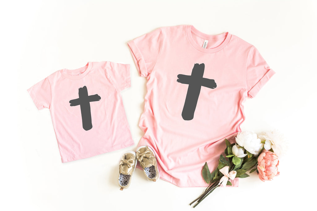 Christian Easter tee - Cross shirt - Mommy and me easter shirt - Matching easter shirt - mom and daughter easter shirt - mommy and me easter
