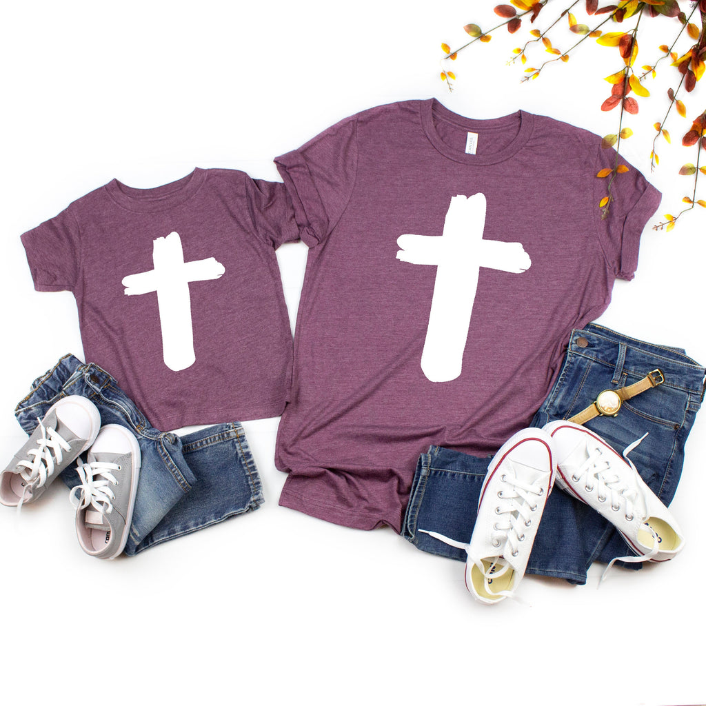 mommy and me easter - mom and daughter easter shirt - Mommy and me easter shirt - Christian Easter tee - Cross shirt - Matching easter shirt