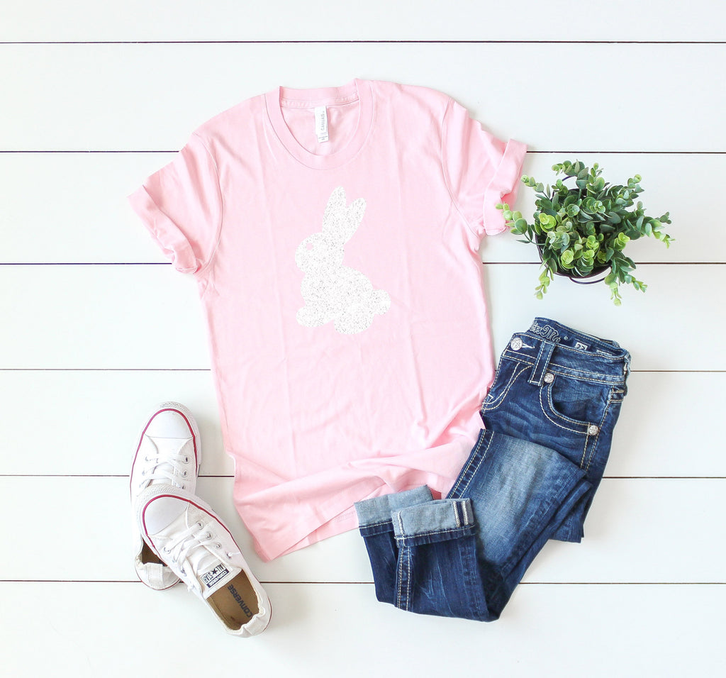womens bunny shirt - Glitter easter shirt - Womens Easter shirt - Easter shirt for women - Cute Easter shirt - Easter gift - Easter shirt