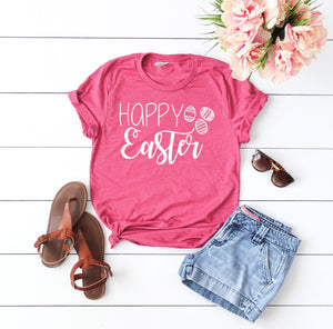 Womens Easter shirt  - Easter shirt for women - Happy easter shirt - Cute Easter shirt  - Easter shirt - hoppy easter - easter tshirt