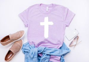 Womens Easter shirt - Womens cross shirt -  Cross tshirt - Cross tee - Womens Christian tee - Womens Christian shirt - Easter shirt