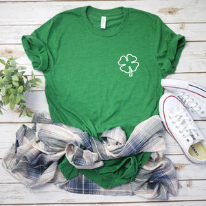green shamrock shirt - shamrock tee - St. Patricks day shirt - womens st. patricks day shirt - irish shirt - Four leaf clover shirt